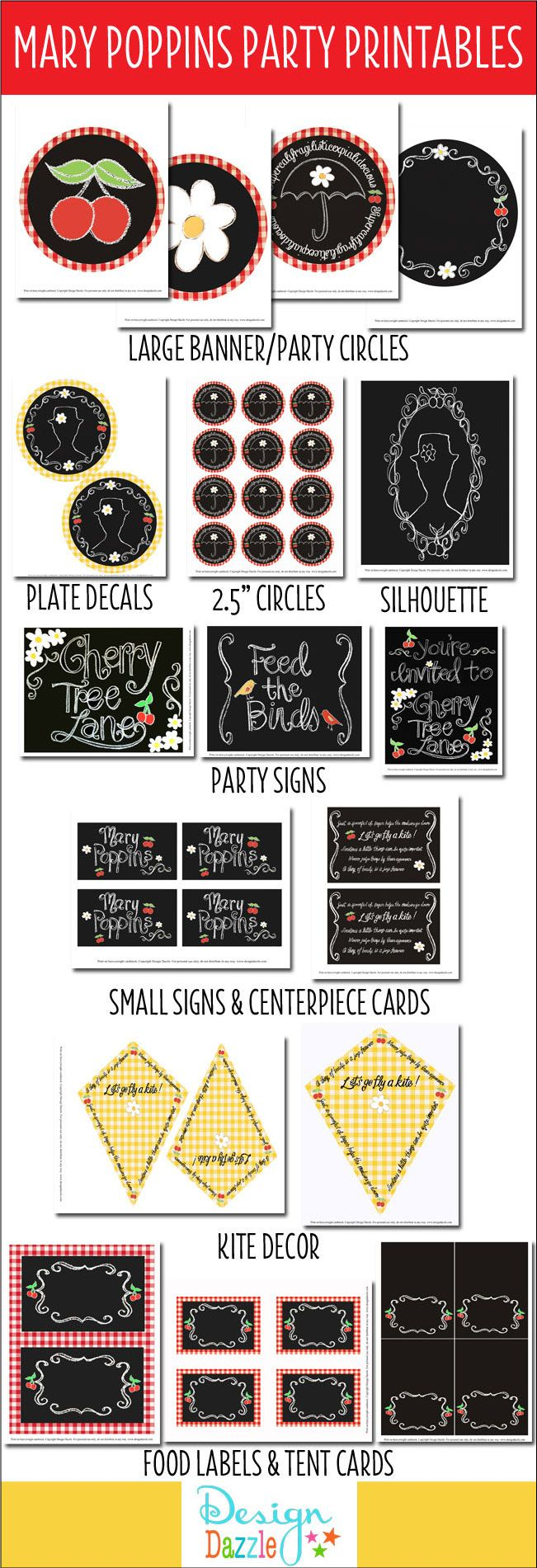 Mary Poppins party printables - everything you need to create a fabulous party!