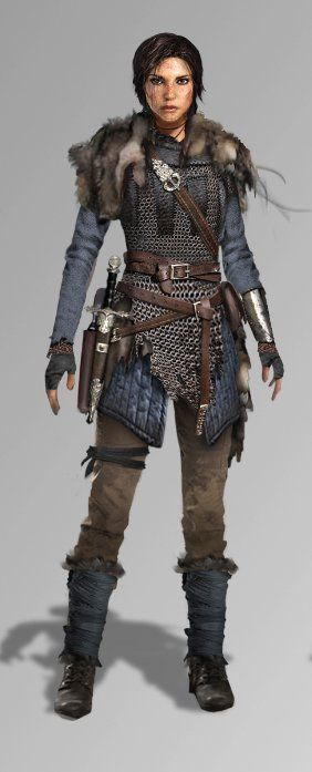 Hope's Bastion outfit dresses Lara in Byzantine Era chainmail.