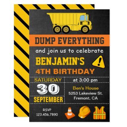 best 20+ construction birthday invitations ideas on pinterest, Birthday invitations