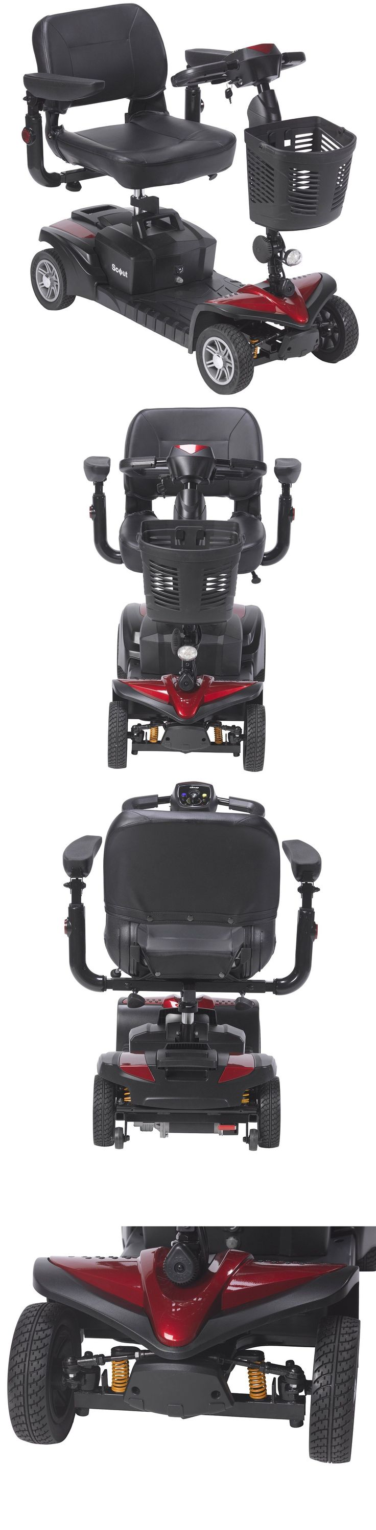Mobility Scooters: New Model Scout Dst 4 Wheel Scooter, Dynamic Suspension Technology BUY IT NOW ONLY: $995.0