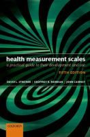 Health measurement scales : a practical guide to their development and use / David L. Streiner, Geoffrey R. Norman, John Cairney Topogràfic: 312.6 STR #novetatsCRAIUBMedicina