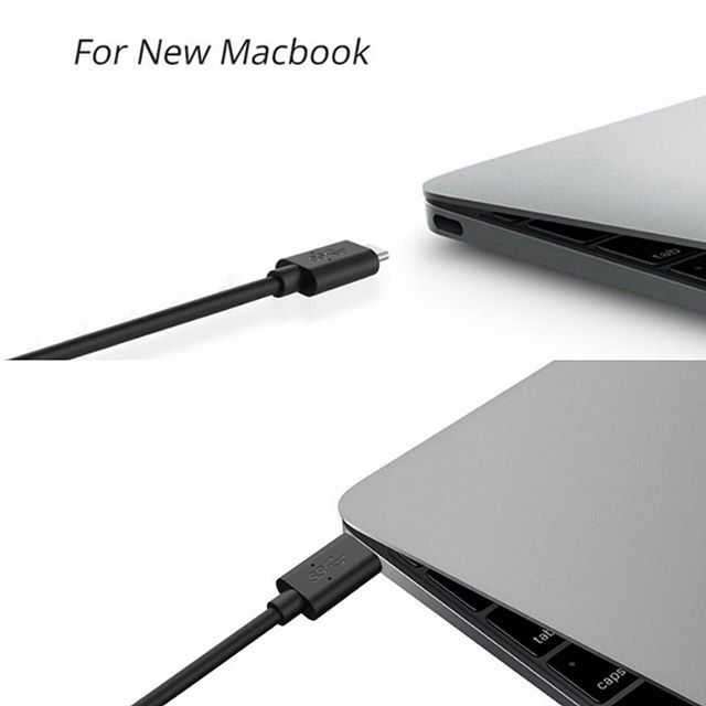 [Backup Charging: ]Use this cable to charge your new MacBook, ChromeBook Pixel or other USB-C devices via any phone charger, portable charger or multi-port USB charger. [SuperSpeed Syncing] Transfer data to and from all your USB-C devices at speeds of up to 5 Gbps.