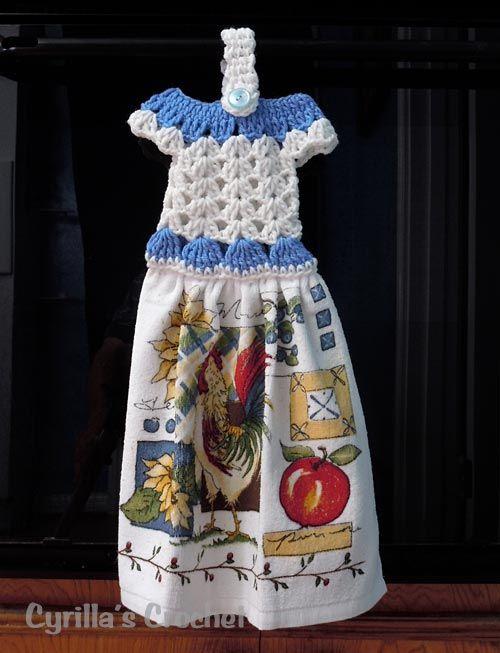all free crochet kitchen toppers   Treasured Heirlooms Crochet Vintage Pattern Shop, Kitchen Decor