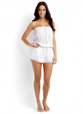 Seafolly Sherbet Playsuit in White