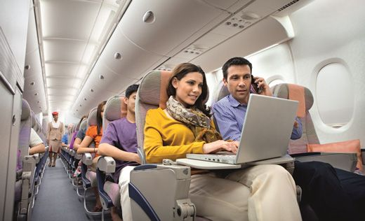 Enjoy free Wi-Fi in the sky when you are flying in Emirates and stay connected with your family and friends.