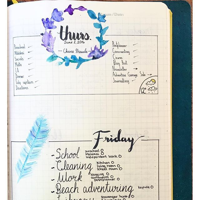 I love watercolor, I love the bit of color in my bullet journal. That being said, I don't do it often, just once in a while when I feel inspired in an evening. Do you ever do #watercolor in your #bujo?   bullet journal   bullet journaling   bullet journal junkie   bullet journal junkies   bujo   bujo junkies   bujo junkies   planner   planner spread  