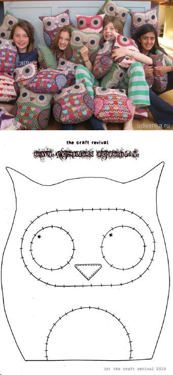 Cute owl cushions felts simple but effective!