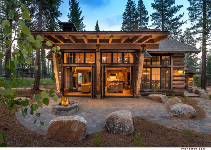 Mountain home featuring stunning reclaimed wood exterior built by NSM Construction in Martis Camp, Truckee.
