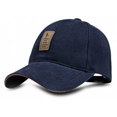 Men Cotton Baseball Hat - $2.99 (coupon: BaseballHat106) BLUE  Adjustable Solid Color Sun Peaked Cap for Outdoor Sports #Baseball, #Hat, #Cotton, #Men, #бейсболка, #gearbest   5943