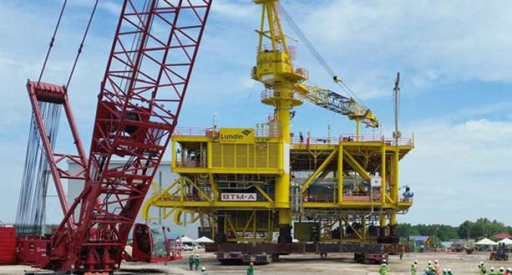 TH Heavy Engineering in Port Klang preparing the Lundin Petroleum Malaysia BTM-A topsite for the load out