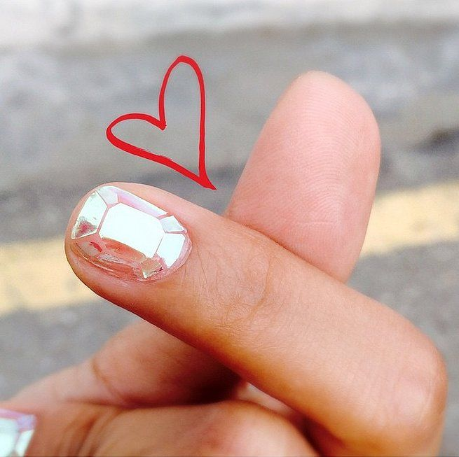 You need to get this glass nail art done ASAP!