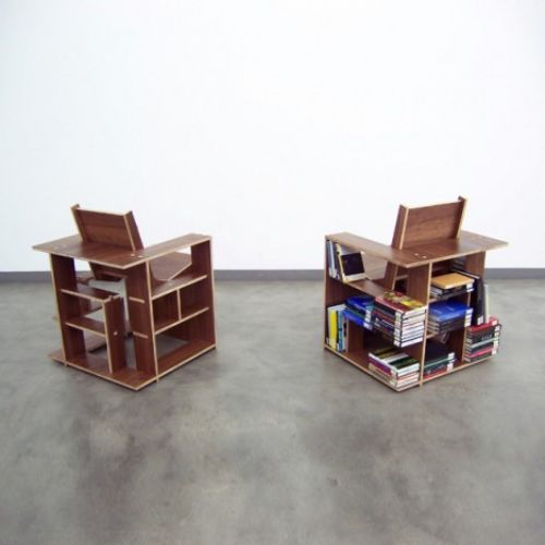Chairs That Hold The Books For You!! Love It!