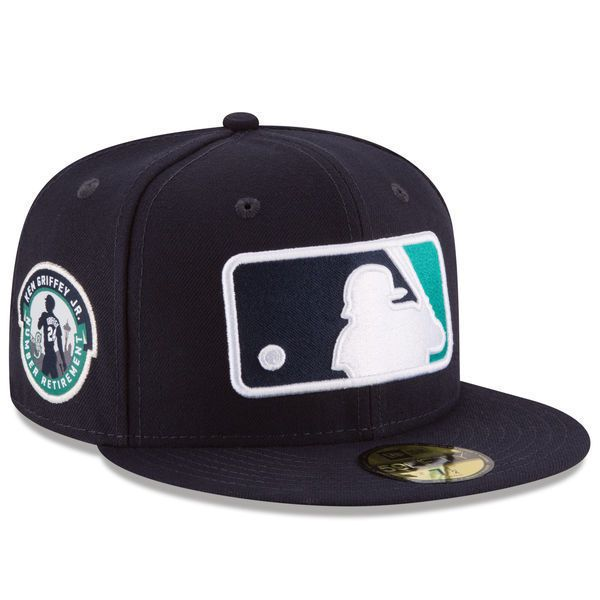 eb200f65 KEN GRIFFEY JR. SEATTLE MARINERS NEW ERA 59FIFTY FITTED MLB BATTERMAN HAT  NWT | eBay