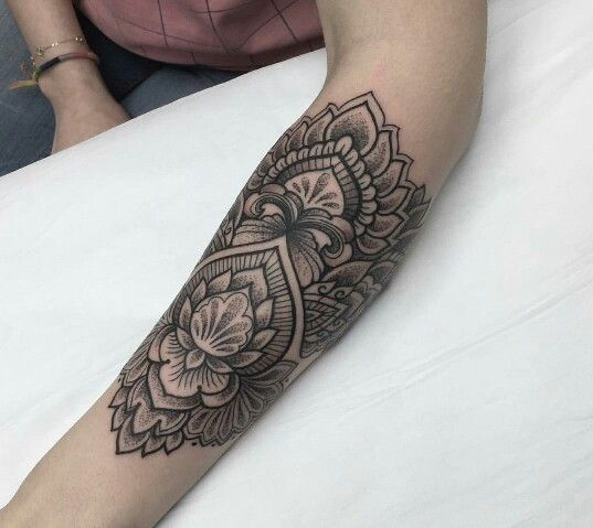 Lotus Mandala pattern tattoo #tattoo