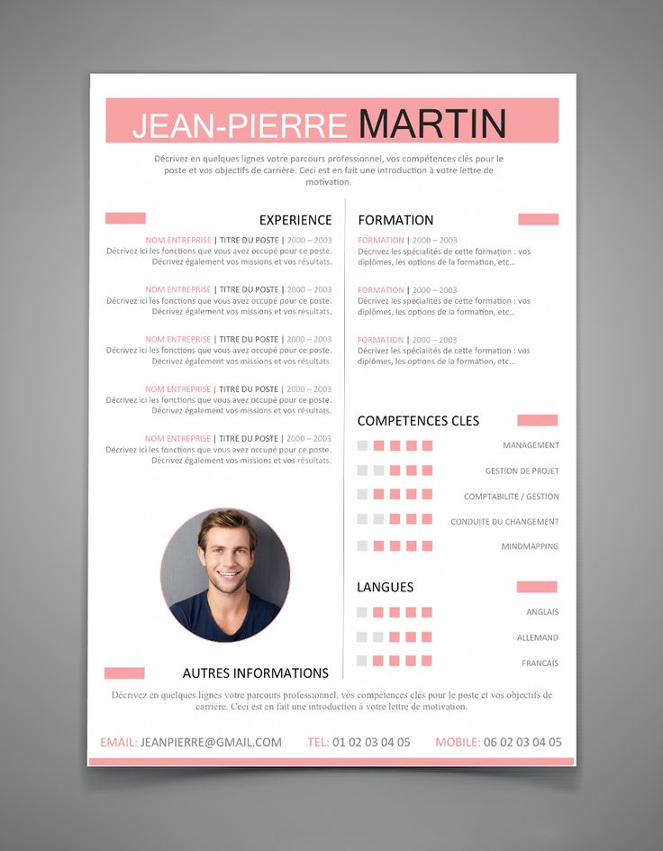 11 best Modèle de cv images on Pinterest | Resume templates, Cv