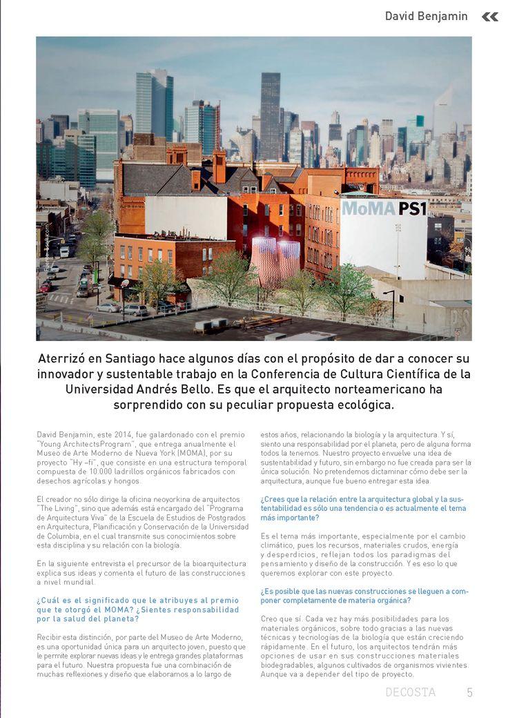 Arquitectura Sustentable - Bio arquitectura - David Benjamin - MOMA