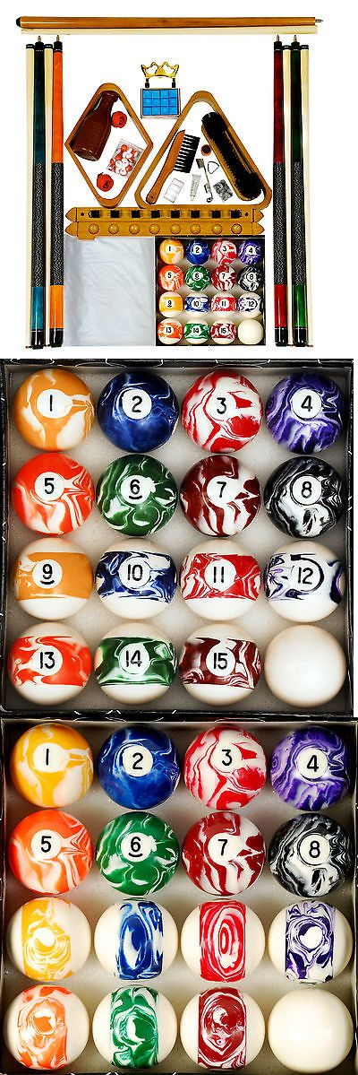 Ball and Cue Racks 75185: Billiard - Pool Table Accessory Kit W Swirl - Marble Style Ball Set Oak Finish -> BUY IT NOW ONLY: $120.95 on eBay!