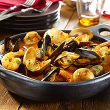 This traditional Spanish-style shellfish stew also called Cazuela de Mariscos is seasoned with Sazón GOYA® with Saffron for a delicious kick that will leave your guests asking for seconds.