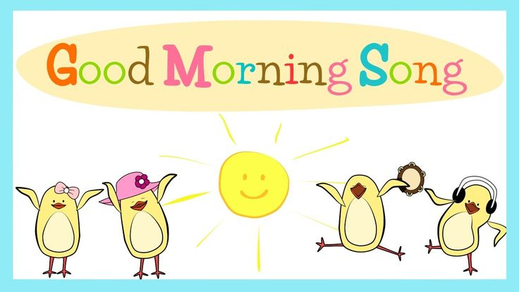 "Dance, and clap your hands to our new ""Good Morning Song"" for kids! Just follow the lyrics on the screen to sing along :D"