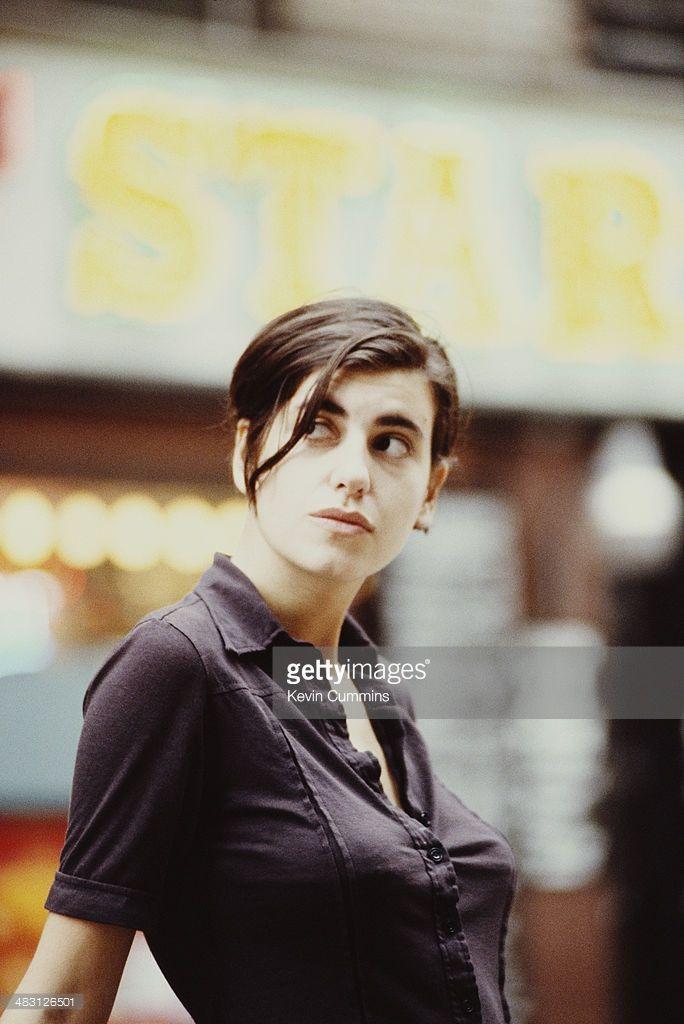 Singer Justine Frischmann of British indie band Elastica, New York City, circa 1995.