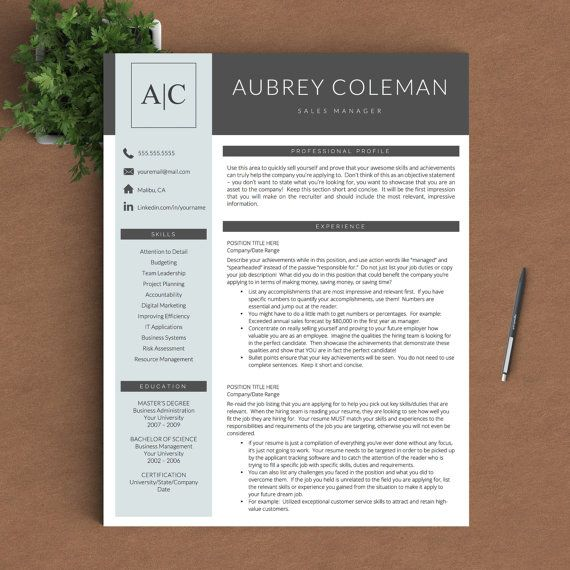 creative resume template for word and pages 1 2 and 3 page resume template