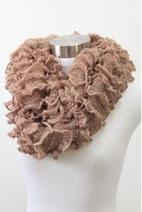 Tube scarves sand color