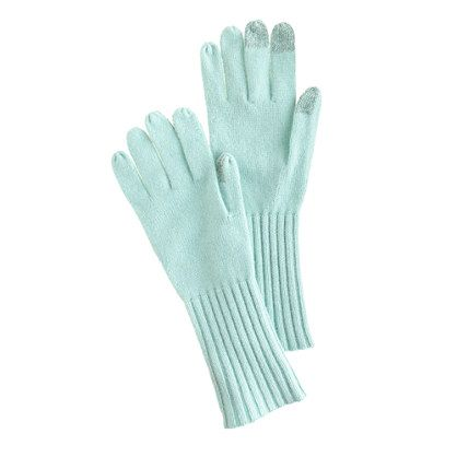 Women's smartphone wool gloves in Mint