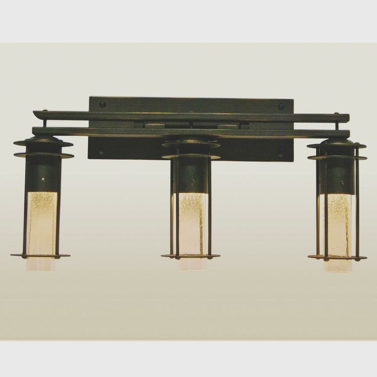 prairie style 3 light bath light inspired by the overlapping places of frank lloyd wrights. Black Bedroom Furniture Sets. Home Design Ideas