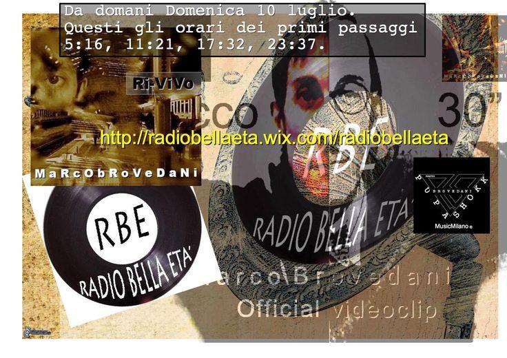 *Da Domani gli amici di RBE network inseriscono nella loro programmazione radio anche la mia musica!!!*