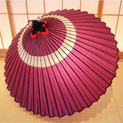特選和紙 蛇の目柄(赤紫)