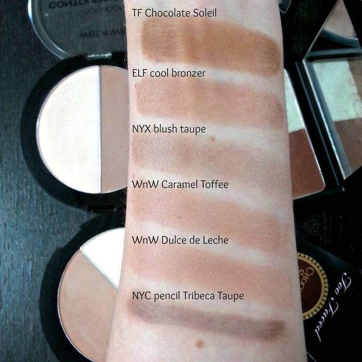 Contour shades for pale skin, compared to Too Faced Chocolate Soleil bronzer