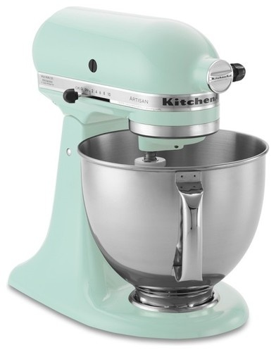 KitchenAid Artisan Stand Mixer, Ice Blue contemporary blenders and food processors