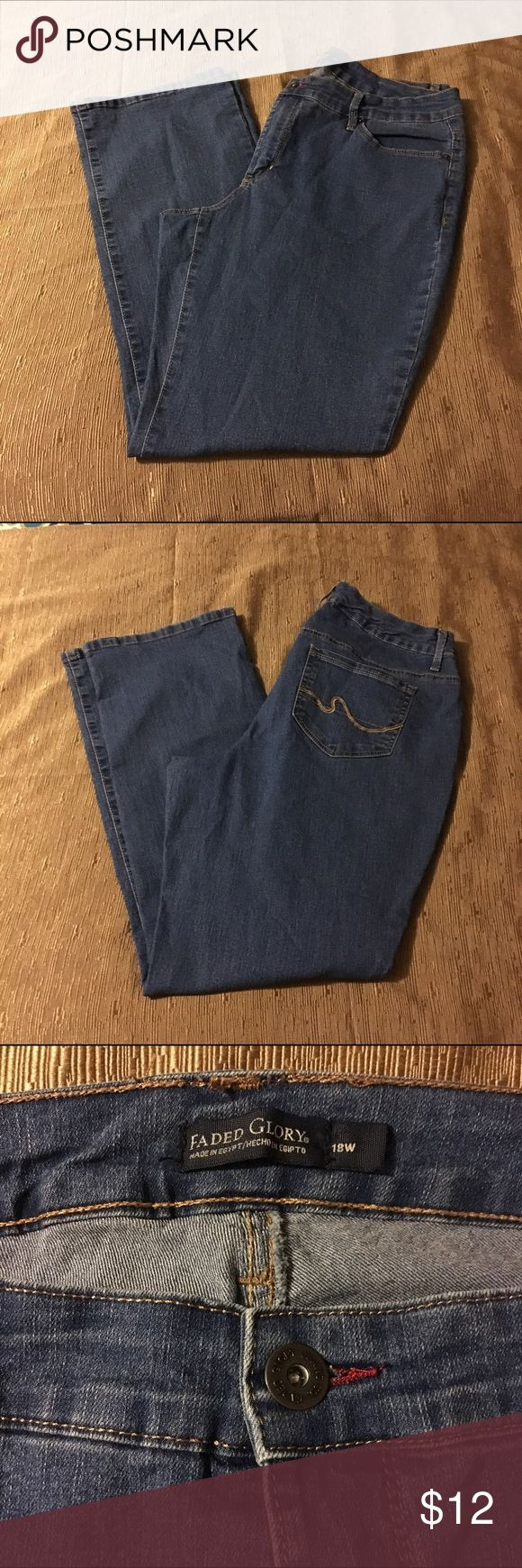 NWOT PLUS SIZE Faded Glory jeans Brand new without tags Faded Glory Jeans. Bootcut medium rinse. Faded Glory Jeans Boot Cut