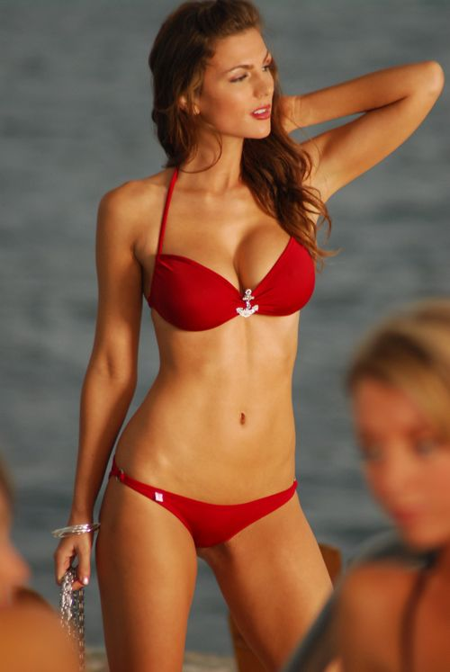 Beautiful Girl In Red Bikini