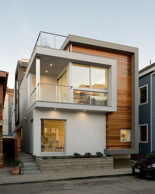 Peninsula House by LeMaster Architects / Long Beach, California. Image via Designed for Life.