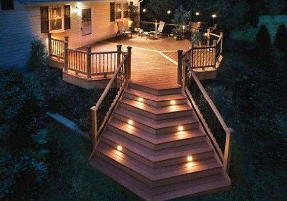 Decks~I like this idea of lights built into the steps