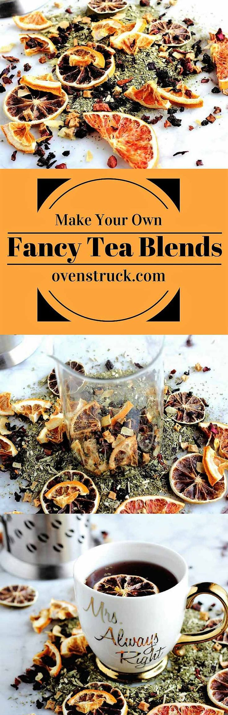 National Tea Day Fancy Tea Blend Grapefruit lemon lime orange blood orange dehydrated fruit green apple