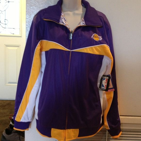 Los Angeles Lakers Jacket New Los Angeles Lakers jacket. Purchased from the NBA store.  Very nice jacket. Perfect jacket for any Lakers fan. Los Angeles Lakers Jackets & Coats