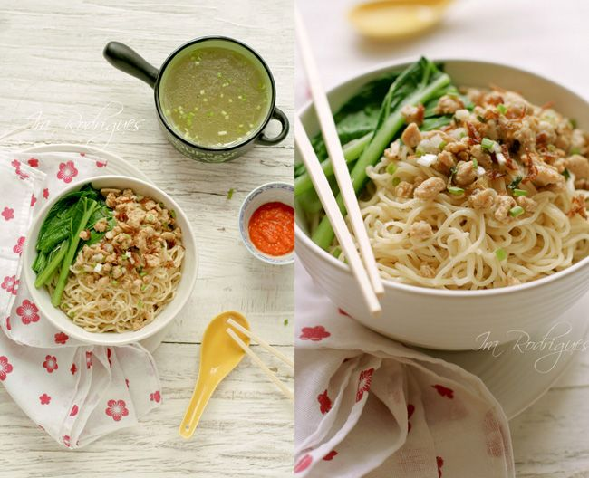 Chinese Indonesian style Chicken Noodles