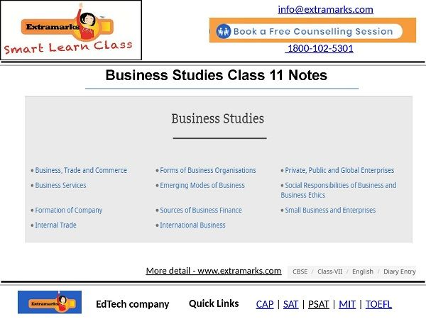 Pin by Ashish Sen on Extramarks | Business studies, Study materials