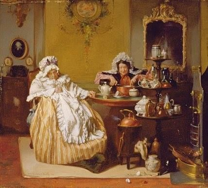 'High Tea' by Alexander Hugo Bakker-Korff (1824-1882)