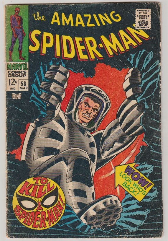 Amazing Spider-Man Vol 1 58 Silver Age Comic by RubbersuitStudios #spiderman #stanlee #comicsforsale