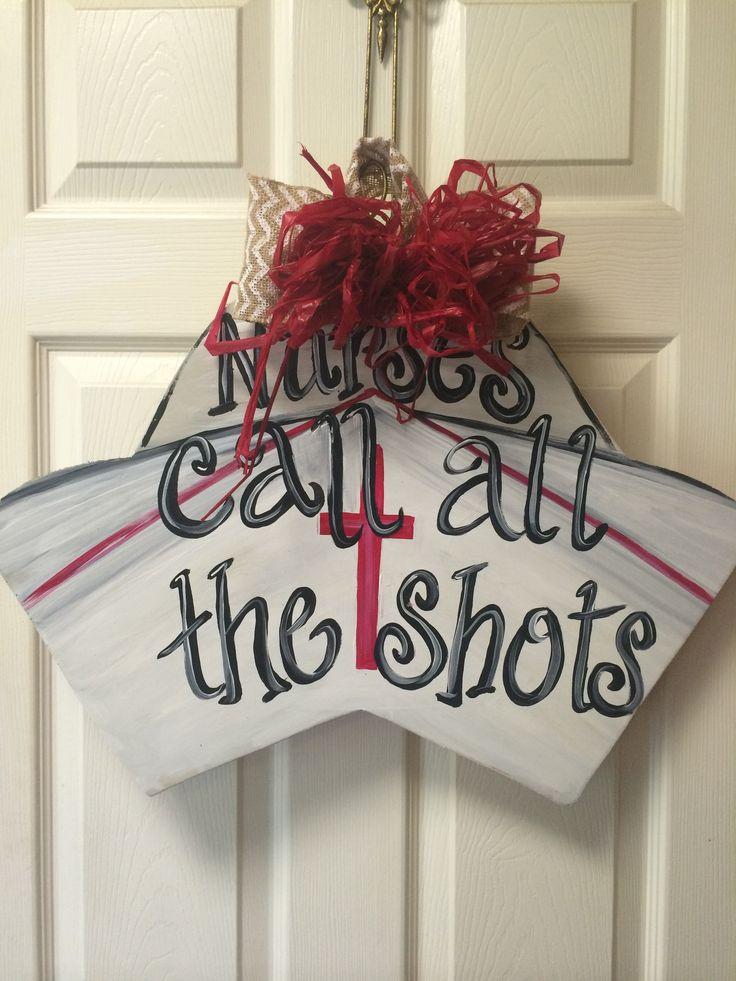 wooden nurse hat door hanger