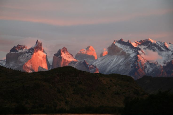 Los Cuernos at sunrise Parque Nacional Torres del Paine, Chile