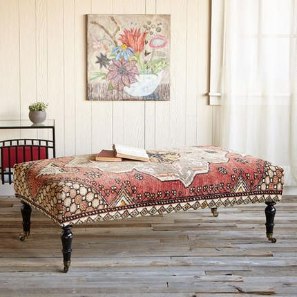 Galatia Turkish Carpet Ottoman | Sundance