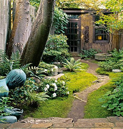 Shaded Backyard Ideas shade garden landscape designhostaastble heuchera gardens landscaping Back In The Woods Enough Sunlight Penetrates The Canopy To Support The Shade Plants In This Entry Garden Together With The Paneled Faade Of The House