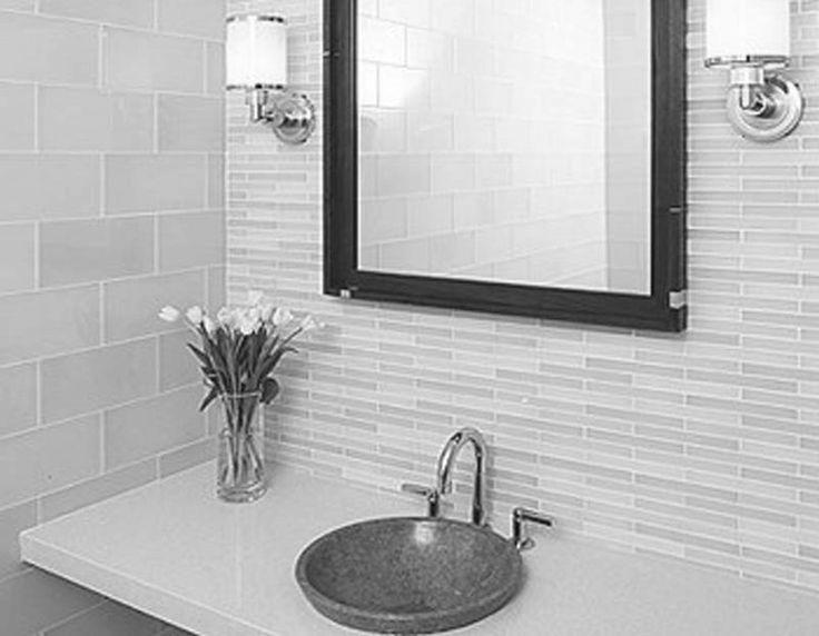 appealing modern bathroom tile designs   Appealing Black And White Bathrooms White Vanity Bathroom ...