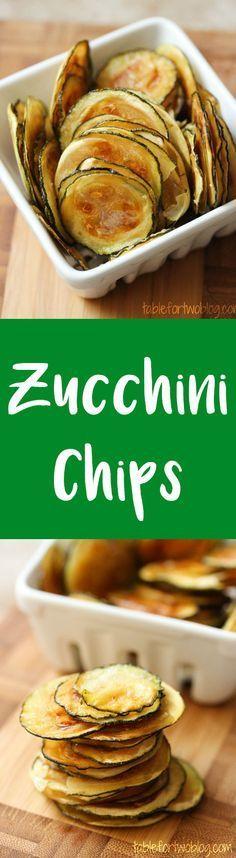 Chips de zucchini au four