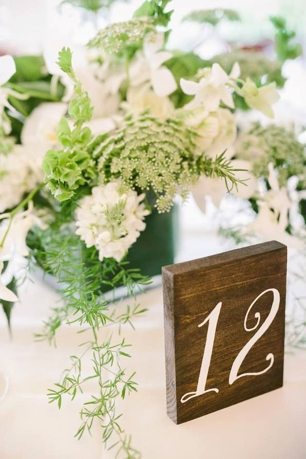 Hand crafted wooden table number by CypressandWhim  via etsy. #tablenumber #rusticwedding