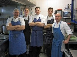 Chef David Everitt-Matthias & brigade at Michelin two star, Le Champignon Sauvage